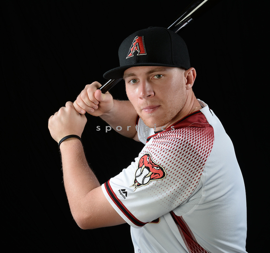 Arizona Diamondbacks Brandon Drury (27) during photo day on February 28, 2016 in Scottsdale, AZ.