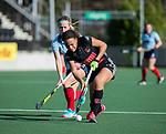 AMSTELVEEN -   Leiah Brigitha (A'dam)  tijdens   de oefenwedstrijd tussen Amsterdam en Laren dames   COPYRIGHT KOEN SUYK