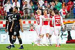 Nederland, Amsterdam, 21 juli 2012.Seizoen 2012/2013.Ajax-Celtic .Daley Blind juicht en wordt gefeliciteerd door zijn ploeggenoten na het scoren van  de 4-0