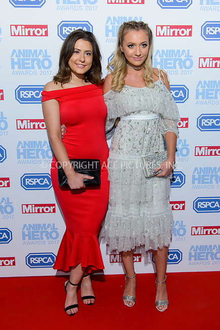 www.acepixs.com<br /> <br /> September 7 2017, London<br /> <br /> Jasmine Armfield and Tilly Keeper attending the Animal Hero Awards 2017 on at the Grosvenor Hotel on September 7 2017 in London<br /> <br /> By Line: Famous/ACE Pictures<br /> <br /> <br /> ACE Pictures Inc<br /> Tel: 6467670430<br /> Email: info@acepixs.com<br /> www.acepixs.com