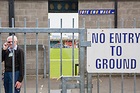 General view outside the ground as stewards are briefed ahead of the Sky Bet League 2 match between Bristol Rovers and Dagenham and Redbridge at the Memorial Stadium, Bristol, England on 7 May 2016. Photo by Mark  Hawkins / PRiME Media Images.