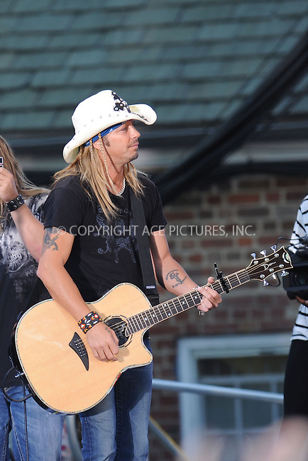 WWW.ACEPIXS.COM . . . . . .June 18 2010, New York City.... Bret Michaels performs on ABC's 'Good Morning America' at Rumsey Playfield, Central Park on June 18, 2010 in New York City...Please byline: KRISTIN CALLAHAN - ACEPIXS.COM.. . . . . . ..Ace Pictures, Inc: ..tel: (212) 243 8787 or (646) 769 0430..e-mail: info@acepixs.com..web: http://www.acepixs.com .