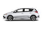 Car Driver side profile view of a 2017 Toyota Corolla-iM CVT-Automatic 5 Door Hatchback Side View