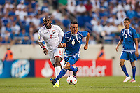 El Salvador midfielder Richard Menjivar (6) during a CONCACAF Gold Cup group B match at Red Bull Arena in Harrison, NJ, on July 8, 2013.