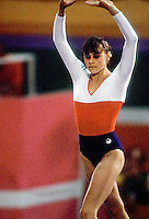 August 6, 1984; Los Angeles, California, USA; Artistic gymnast Romi Kessler of Switzerland performs on balance beam at 1984 Los Angeles Olympics.  Copyright 1984 Tom Theobald