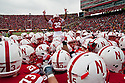 25 November 2011: Cornerback Marcus Mendoza #32 of the Nebraska Cornhuskers fires up the fan before the game against the Iowa Hawkeyes at the Memorial Stadium in Lincoln, Nebraska. Nebraska defeated Iowa 20 to 7.