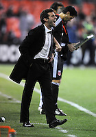 DC United Head Coach Ben Olsen.    DC United tied  Los Angeles Galaxy 1-1, at RFK Stadium, Saturday April 9, 2011.