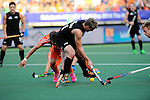 The Hague, Netherlands, June 10: Steven Edwards #31 of New Zealand in action during the field hockey group match (Men - Group B) between New Zealand and The Netherlands on June 10, 2014 during the World Cup 2014 at Kyocera Stadium in The Hague, Netherlands. Final score 1-1 (0-1) (Photo by Dirk Markgraf / www.265-images.com) *** Local caption ***