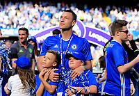 Chelsea defender John Terry (26) with his children after  the Premier League match between Chelsea and Sunderland at Stamford Bridge on May 21st 2017 in London, England. <br /> Festeggiamenti Chelsea vittoria Premier League <br /> Foto Leila Cocker/PhcImages/Panoramic/Insidefoto