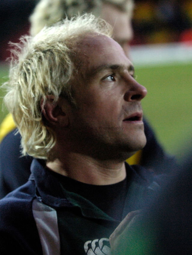 Photo: Richard Lane..Saracens v London Irish. Powergen Cup. 23/01/2005..Mark Mapletoft.