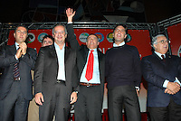 Roma, 28/11/04 Presentazione Piero Marrazzo come candidato a Presidente della Regione Lazio. Walter Veltroni, Piero Marrazzo, Enrico Gasbarra e Armando Cossutta.<br /> Photo Samantha Zucchi Insidefoto