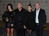 WWW.BLUESTAR-IMAGES.COM.Kim Kardashian and Phillip Green pictured at the Kardashian Kollection launch. The event was to promote their new fashion range for high street chain Dorothy Perkins held at Aqua, London. Uk 08/11/2012.<br />