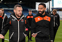 Blackpool's Jay Spearing and Liam Feeney<br /> <br /> Photographer Andrew Kearns/CameraSport<br /> <br /> The EFL Sky Bet League One - Portsmouth v Blackpool - Saturday 12th January 2019 - Fratton Park - Portsmouth<br /> <br /> World Copyright © 2019 CameraSport. All rights reserved. 43 Linden Ave. Countesthorpe. Leicester. England. LE8 5PG - Tel: +44 (0) 116 277 4147 - admin@camerasport.com - www.camerasport.com