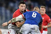 Owen Watkin Wales, Sergio Parisse Italy.<br />  <br /> Roma 9-02-2019 Stadio Olimpico<br /> Rugby Six Nations tournament 2019  <br /> Italy - Wales <br /> Foto Antonietta Baldassarre / Insidefoto