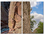 Rock climbers in the canyons in Front Range, Colorado.