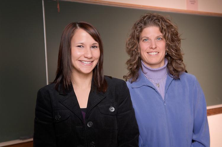 Nicole Evangelista(student in black) and Julie Owens (professor in blue).
