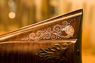 A detail shot of a beautifully crafted gun, hand made by Bobby Denton in North Carolina