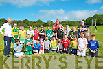 Listowel Rugby Coaching: Mick Galway, Ireland & Munster rugby star attending a coaching session in Listowel' s Town Park on Saturday with young members of Listowel Rugby Club.