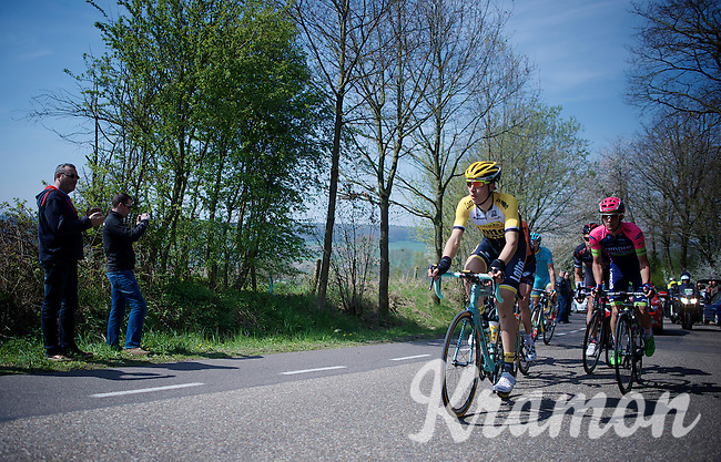 Timo Roosen (NLD/LottoNL-Jumbo leading the breakaway over the Camerig climb<br /> <br /> 50th Amstel Gold Race 2015