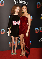 HOLLYWOOD, CA - MARCH 11: Nico Parker (L) and Thandie Newton attend the premiere of Disney's 'Dumbo' at El Capitan Theatre on March 11, 2019 in Los Angeles, California.<br /> CAP/ROT/TM<br /> &copy;TM/ROT/Capital Pictures
