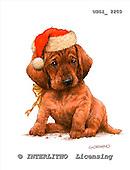 GIORDANO, CHRISTMAS ANIMALS, WEIHNACHTEN TIERE, NAVIDAD ANIMALES, paintings+++++,USGI2200,#XA# dogs,puppies