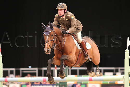 10.10.2010 The Horse of the Year Show from the NEC in Birmingham. HOYS leading Showjumper of the year. David O'Brian riding Kiltoom