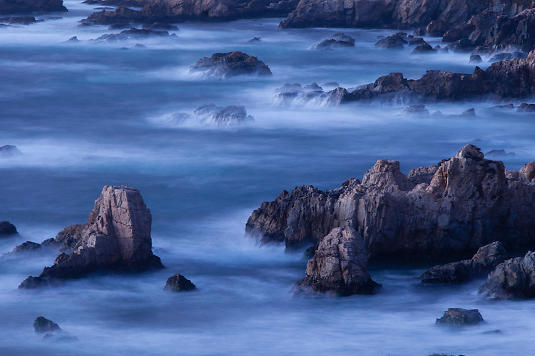 Twilight at Garrapata SP coastline renders a mystic touch.