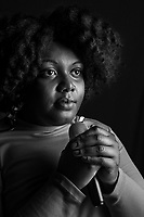 "Yazmin Lacey, jazz singer photographed in the studio in London. Yasmin Lacey, norn in London, currently lives in Nottingham has been a singer of a hybrid of jazz, lover's rock, motown and hip hop. She has an ep of her music called ""Black Moon"""
