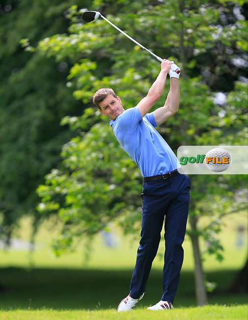 Jamie Carney (Kings Norton GC) on the 2nd tee during Round 2 of the Titleist &amp; Footjoy PGA Professional Championship at Luttrellstown Castle Golf &amp; Country Club on Wednesday 14th June 2017.<br /> Photo: Golffile / Thos Caffrey.<br /> <br /> All photo usage must carry mandatory copyright credit     (&copy; Golffile | Thos Caffrey)