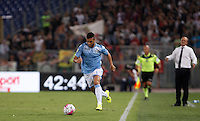 Calcio, Serie A: Lazio vs Bologna. Roma, stadio Olimpico, 22 agosto 2015.<br /> Lazio&rsquo;s Felipe Anderson in action during the Italian Serie A football match between Lazio and Bologna at Rome's Olympic stadium, 22 August 2015.<br /> UPDATE IMAGES PRESS/Isabella Bonotto