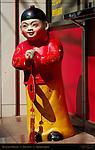 Restaurant Greeter Sculpture Chinatown Yokohama Japan