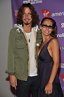 WWW.ACEPIXS.COM . . . . . ....September 11 2009, LA....Musician Chris Cornell and his wife Vicky Karayiannis at the 2nd Annual Virgin America Sunset Strip Music Festival Party at the Andaz West on September 11, 2009 in Los Angeles, California.....Please byline: JOE WEST- ACEPIXS.COM.. . . . . . ..Ace Pictures, Inc:  ..(646) 769 0430..e-mail: info@acepixs.com..web: http://www.acepixs.com