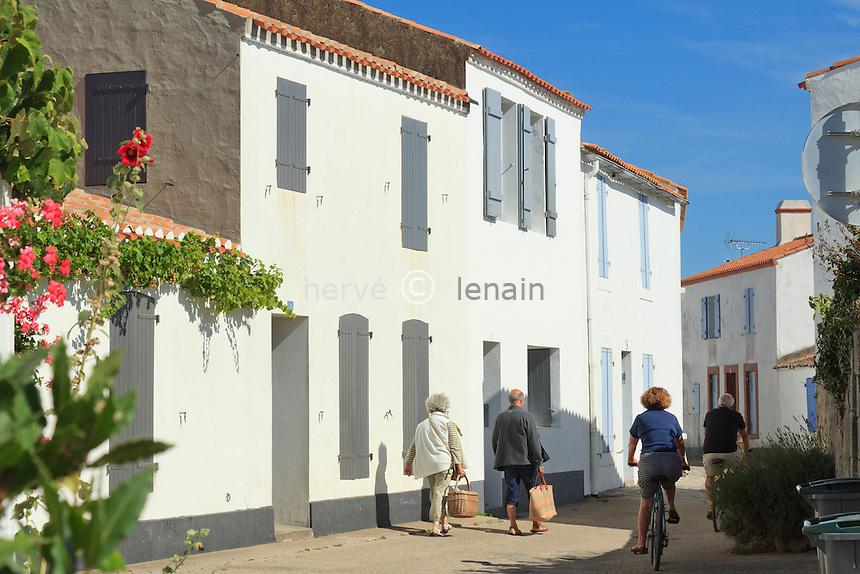 France, Vendée (85), île de Noirmoutier, Noirmoutier-en-l'Île // France, Vendee, Island of Noirmoutier, Noirmoutier en lIle, in the town center