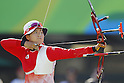 Saori Nagamine (JPN),<br /> AUGUST 7 2016 - Archery : <br /> Women's teaml final Round <br /> at Sambodromo <br /> during the Rio 2016 Olympic Games in Rio de Janeiro, Brazil. <br /> (Photo by Yusuke Nakanishi/AFLO SPORT)