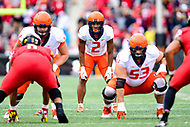 College Park, MD - OCT 27, 2018: Illinois Fighting Illini running back Reggie Corbin (2) in action during game between Maryland and Illinois at Capital One Field at Maryland Stadium in College Park, MD. The Terrapins defeated Illinois to move to 5-3 on the season. (Photo by Phil Peters/Media Images International)