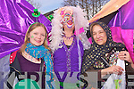 Looking colourful at the St Patricks Day parade in Killorglin on Thursday were Miriam Triebe, Lorna Tyther and Katrin Ruberg Krautz.