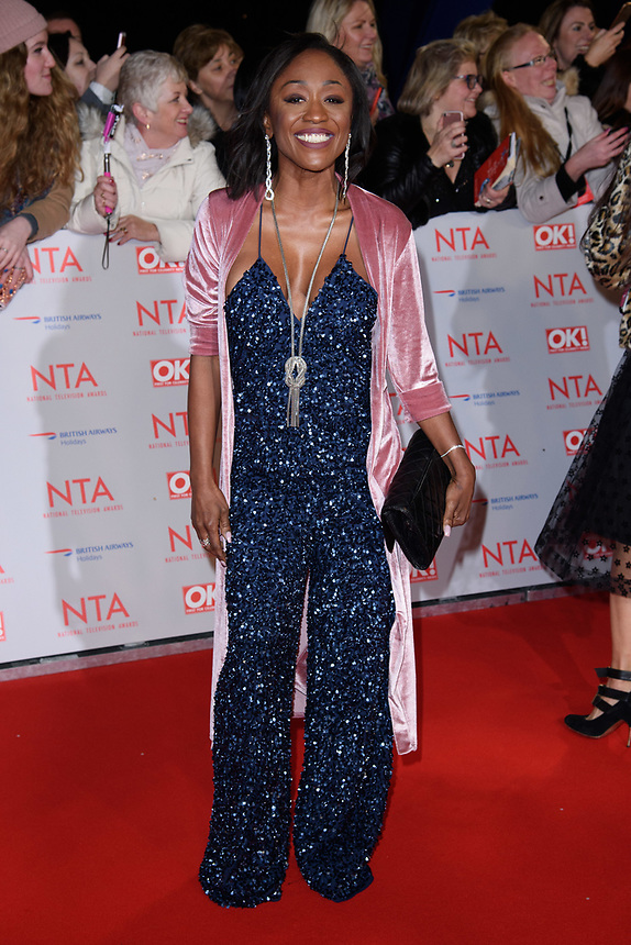 Dianne Parish<br /> arriving for the National Television Awards 2018 at the O2 Arena, Greenwich, London<br /> <br /> <br /> ©Ash Knotek  D3371  23/01/2018