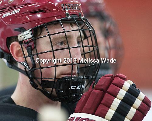 Danny Fick (Harvard - 7) - The Harvard University Crimson practiced on Friday, October 22, 2013, at Bright-Landry Hockey Center in Cambridge, Massachusetts.