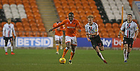 Blackpool's Joe Dodoo and Charlton Athletic's George Lapslie<br /> <br /> Photographer Stephen White/CameraSport<br /> <br /> The EFL Sky Bet League One - Blackpool v Charlton Athletic - Saturday 8th December 2018 - Bloomfield Road - Blackpool<br /> <br /> World Copyright &copy; 2018 CameraSport. All rights reserved. 43 Linden Ave. Countesthorpe. Leicester. England. LE8 5PG - Tel: +44 (0) 116 277 4147 - admin@camerasport.com - www.camerasport.com