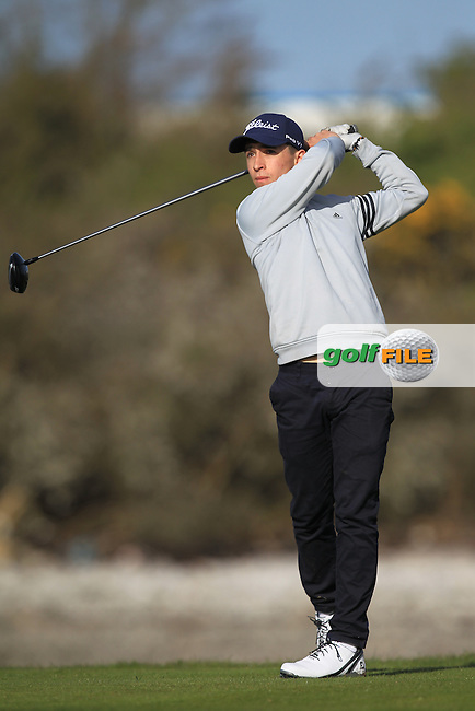 S. Desmond (Monkstown) on the 4th tee during Round 1 of the Munster Stroke Play Championship at Cork Golf Club on Saturday 30th April 2016.<br /> Picture:  Thos Caffrey / www.golffile.ie