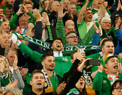 9th October 2017, Cardiff City Stadium, Cardiff, Wales; FIFA World Cup Qualification, Wales versus Republic of Ireland; Republic of Ireland supporters cheer on their team