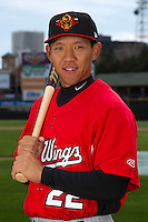Rochester Red Wings infielder Ray Chang #22 poses for a photo during media day at Frontier Field on April 3, 2012 in Rochester, New York.  (Mike Janes/Four Seam Images)