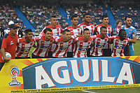 BARRANQUILLA - COLOMBIA, 12-AGOSTO-2017:Formación del Atlético Junior.Atlético Junior y Envigado FC en partido por la fecha 7 de la Liga Águila II 2017 jugado en el estadio Metropolitano Roberto Meléndez de la ciudad de Barranquilla. / Team of Atletico Junior. Atletico Junior and Envigado FC in match for the date 7 of the Aguila League II 2017 played at Metropolitano Roberto Melendez stadium in Barranquilla city. Photo: Vizzorimage / Alfonso Cervantes / Stringer