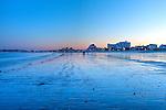 Nightfall at Revere Beach, Revere, Massachusetts, USA