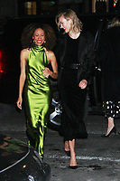 NEW YORK, NY - March 07: Elaine Welteroth, Karlie Kloss arriving to Bravo's premiere of  Project Runway at Vandal in New York City on March 07, 2019. <br /> CAP/MPI/RW<br /> &copy;RW/MPI/Capital Pictures