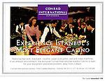 Gambling Casino at The Hotel Conrad Istanbul photographed for Conrad/Hilton Hotels Intl.