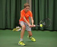 March 13, 2015, Netherlands, Rotterdam, TC Victoria, NOJK, Lars Kuipers (NED)   Tycho Korporaal (NED)<br /> Photo: Tennisimages/Henk Koster