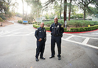 Edwin Mourthi, Campus Safety Lieutenant and Victor Clay, Chief of Campus Safety.<br />