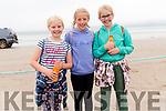 Réaltín O'Sullivan (Tarbert), Sadhbh Ní Shlattara (Ballyferriter) and Séanna O'Sullivan (Tarbert) enjoying the Béal Ban Races in Ballyferriter on Sunday afternoon.