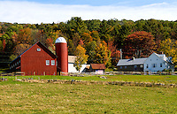 Farm in autumn foliage, Weston, Vermont
